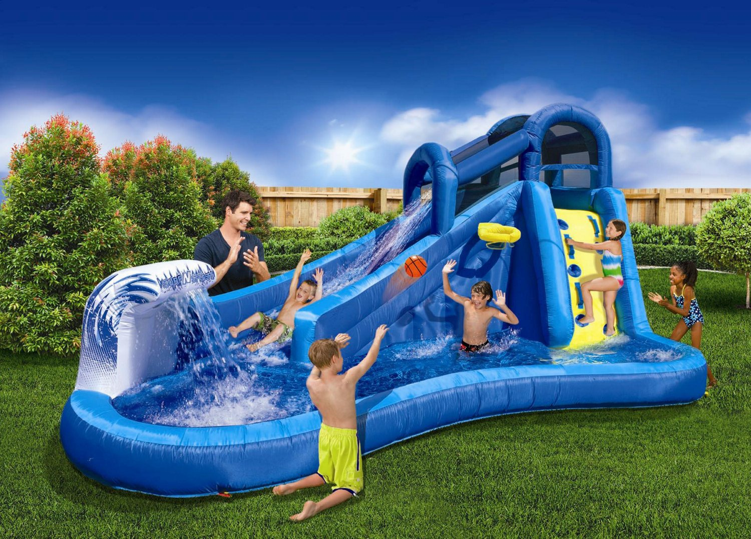 How to make a mobile water park a true children's inflatable water park?