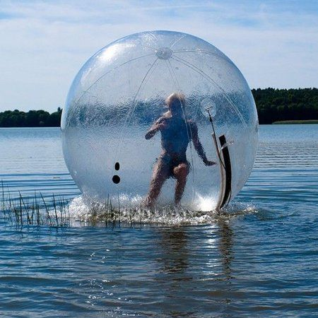 This Life-Sized Human Hamster Ball Lets You Literally Walk On Water
